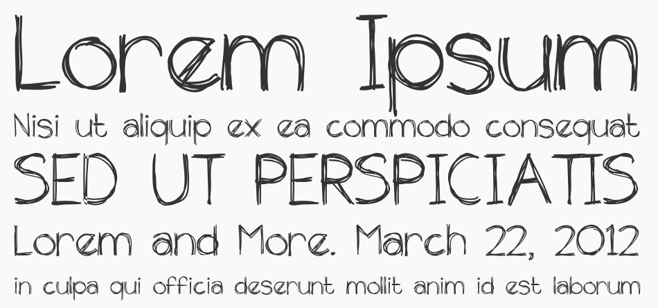 The Unseen font