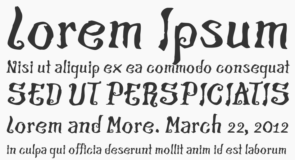 The Croach font