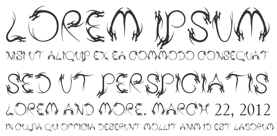 Tribal Dragon font