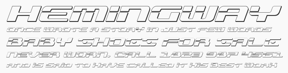 Troopers 3D Expanded Italic, Expanded Italic