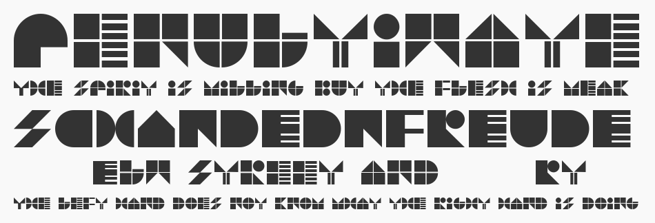 Try Type font