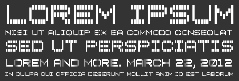 Vertical Tuning font