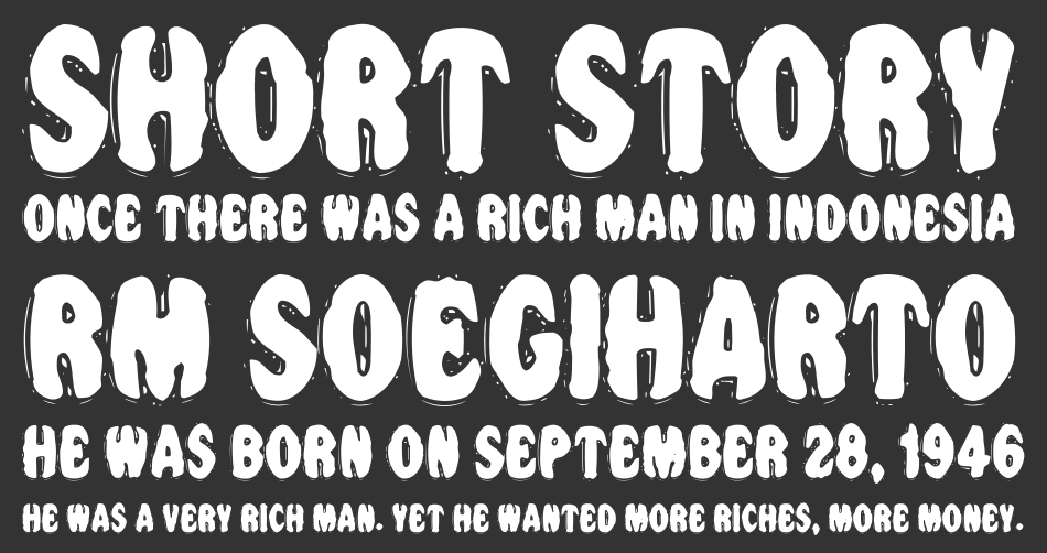 VTC Night of the dead corrupt font