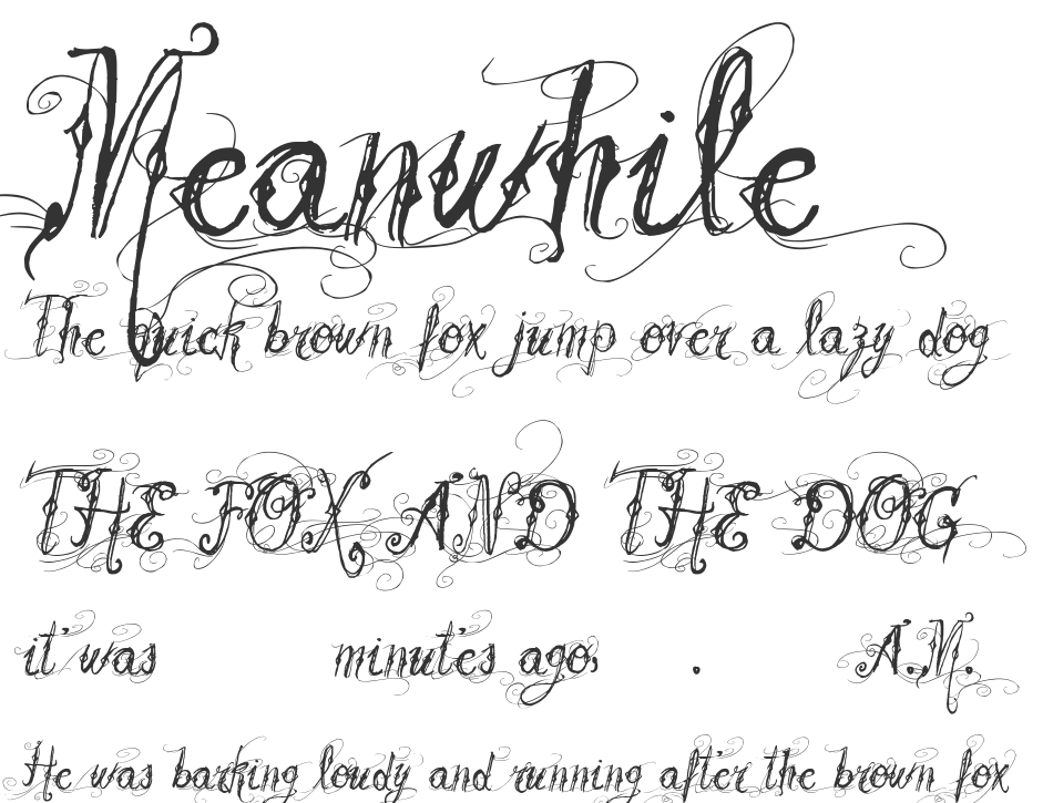 ... font is labeled as Calligraphy font. Vtks Beautiful Dreams font family