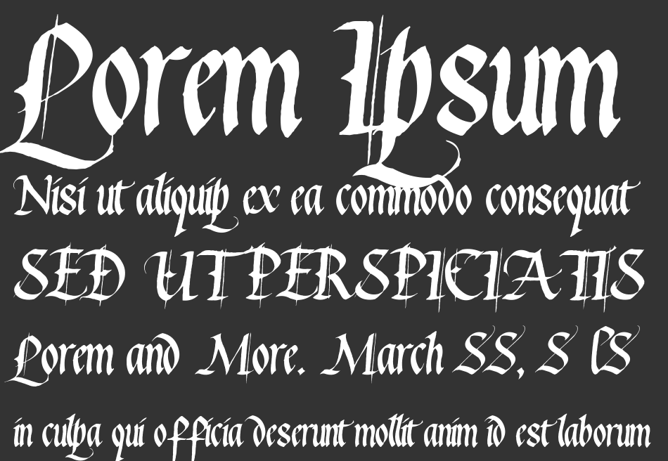 Waters Gothic font