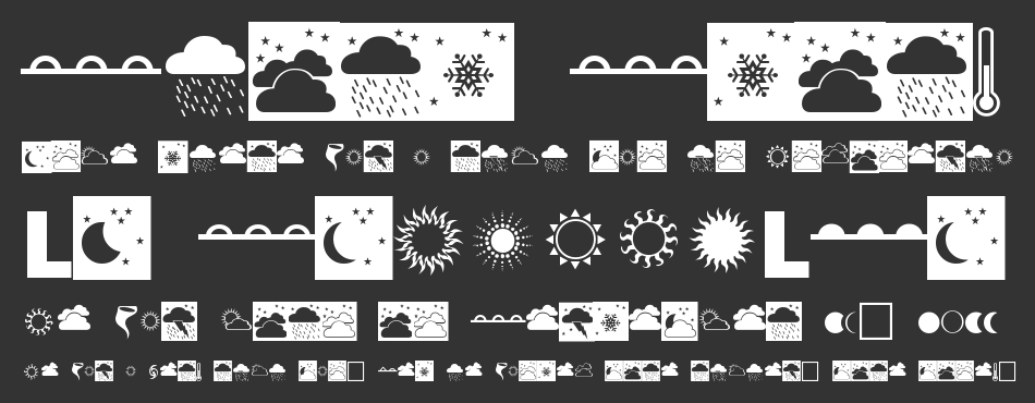 Weather font