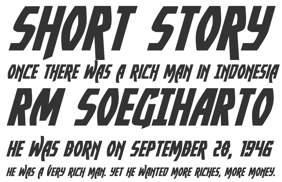 Yankee Clipper Expanded Italic, Expanded Italic