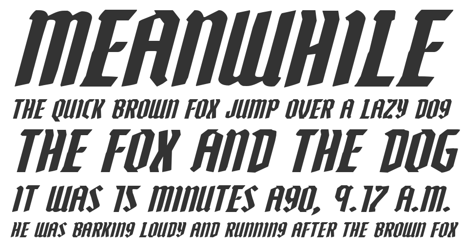 Zollern Expanded Italic, Expanded Italic