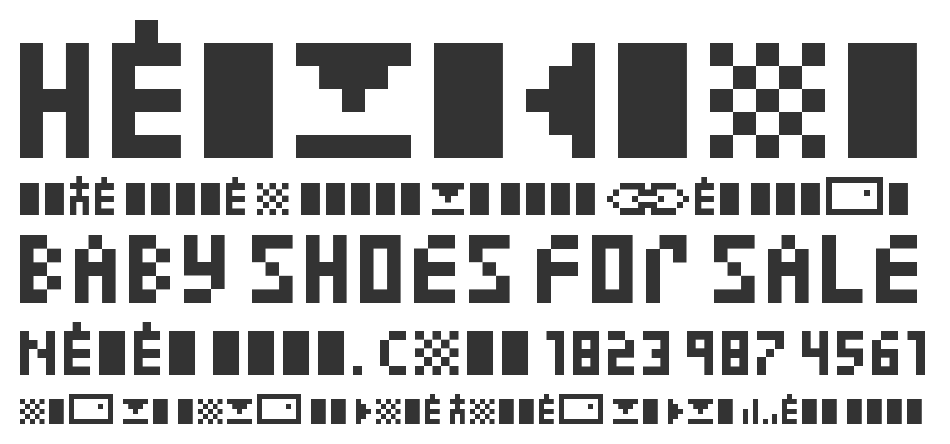 Zuptype font
