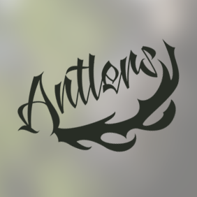 Antlers font.