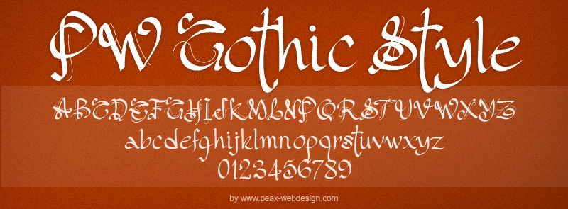 PW Gothic Style font.