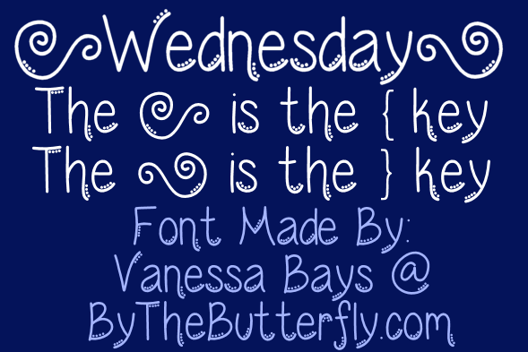 Wednesday font.